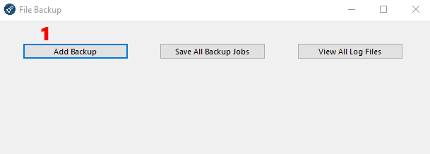FW Admin Tech Tool Pro - Add Backup