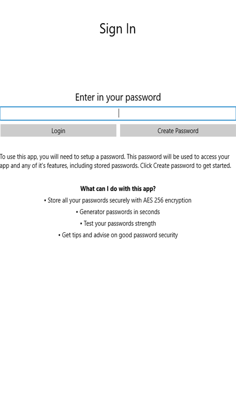 FW Password Manager Login