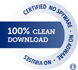 100% CLEAN award granted by Softpedia.